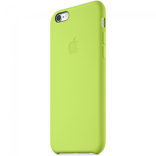 Apple Silicone Case чехол Green для iPhone 6