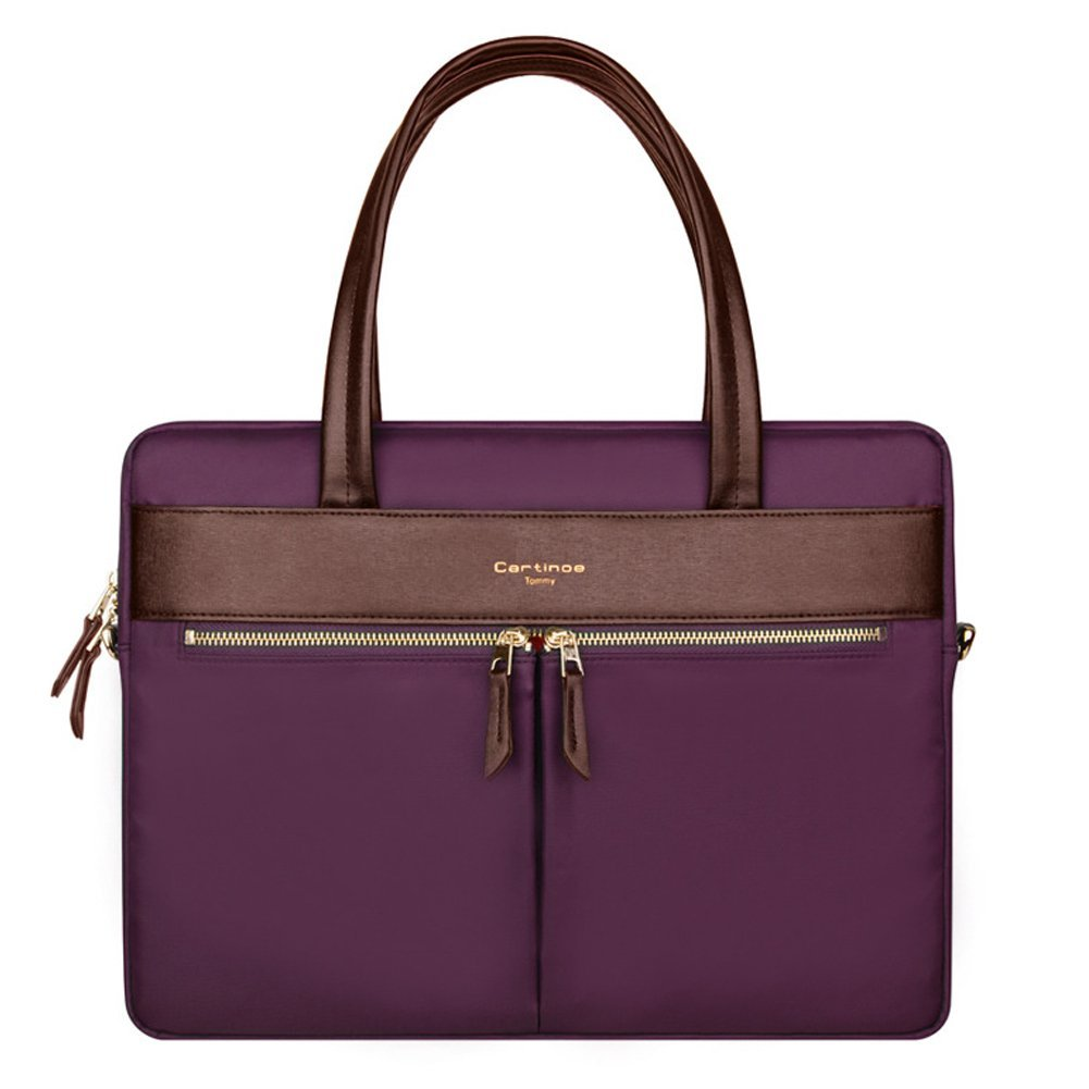 Cartinoe london сумка для ноутбука 15″ с длинными ручками фиолетовая