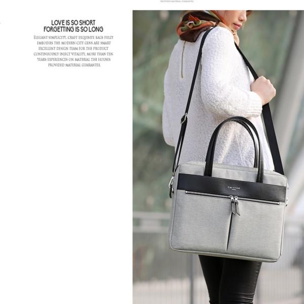 Cartinoe london сумка для ноутбука 15″ с длинными ручками серая