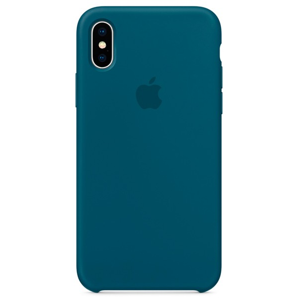 Apple Silicone Case чехол для iPhone Apple iPhone X Cosmos Blue