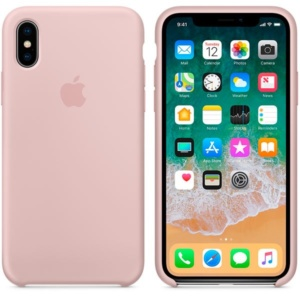 Apple Silicone Case чехол для iPhone Apple iPhone X Pink Sand