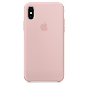 Apple Silicone Case чехол для iPhone iPhone X Pink Sand
