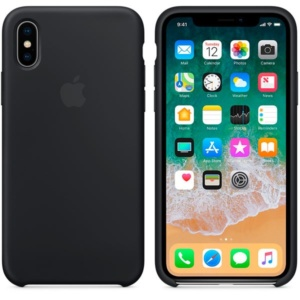 Apple Silicone Case чехол для iPhone iPhone X Black