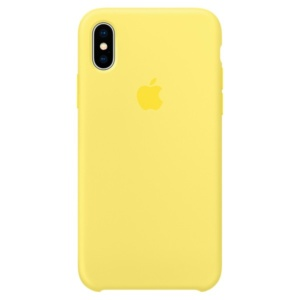 Apple Silicone Case чехол для iPhone Apple iPhone X Lemonade