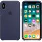 Apple Silicone Case чехол для iPhone Apple iPhone X Midnight Blue
