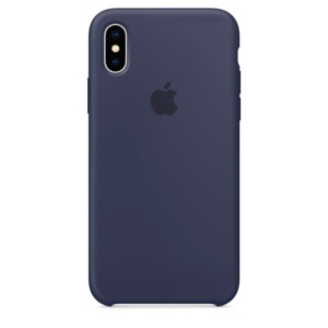 Apple Silicone Case чехол для iPhone Apple iPhone X Midnight Blue