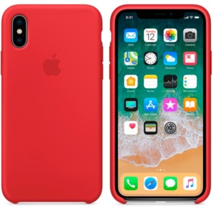 Apple Silicone Case чехол для iPhone iPhone X (PRODUCT)RED