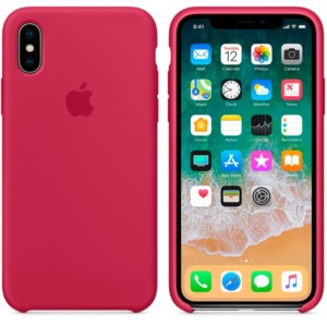 Apple Silicone Case чехол для iPhone iPhone X Rose Red
