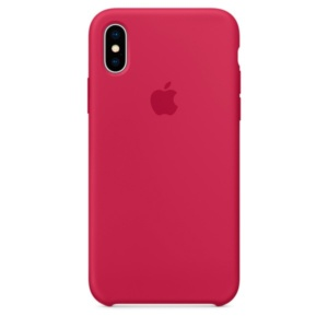 Apple Silicone Case чехол для iPhone Apple iPhone X Rose Red