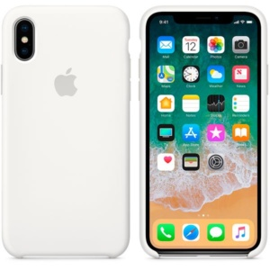 Apple Silicone Case чехол для iPhone iPhone X White