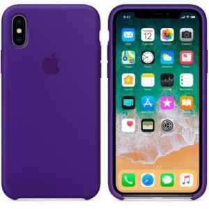 Apple Silicone Case чехол для iPhone XS Purple