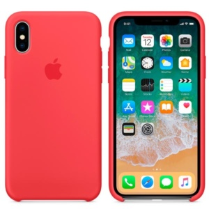 Apple Silicone Case чехол для iPhone XS Nectarine