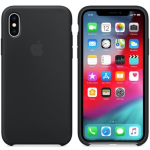 Apple Silicone Case чехол для iPhone XS Max Silicone Case Black
