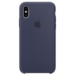 Apple Silicone Case чехол для iPhone XS  Midnight Blue