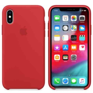 Чехол для iPhone Apple iPhone XS Silicone Case Red