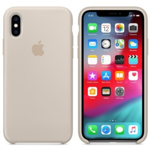 Apple Silicone Case чехол для iPhone XS Max Stone