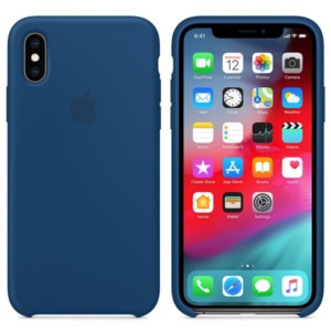 Apple Silicone Case чехол для iPhone XS Max Blue Horizon