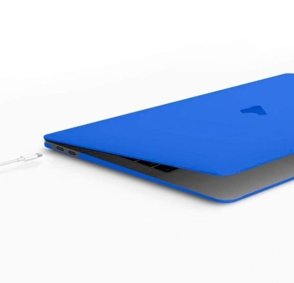 BTA Чехол-накладка для Apple MacBook Air 13 2018 (Синяя матовая)