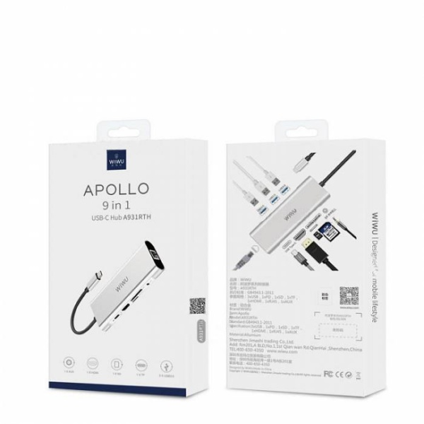 Мульти Хаб WiWu Apollo A931HRT 9 in 1 HUB