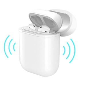 Bluetooth Wireless Earphone Charger Case For AirPod Wireless Charging Receiver Cover Compatible With Any Wireless Charger 300x300 - Чехол для Apple AirPods HOCO CW18 белый