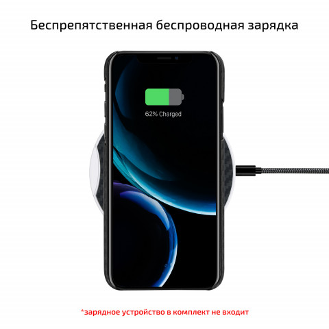 Кевларовый чехол Pitaka для iPhone 11 черно-серый