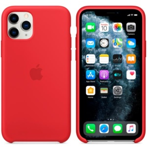 Чехол для iPhone Apple iPhone 11 Pro Max Silicone Case Red