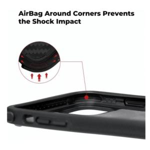 Противоударный карбоновый чехол Pitaka MagEZ Case PRO для IPhone 11 Pro черно-серый в полоску