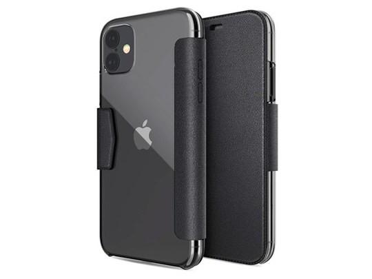 Чехол X-doria Engage Folio case для Apple iPhone 11 (черный, кожаный)