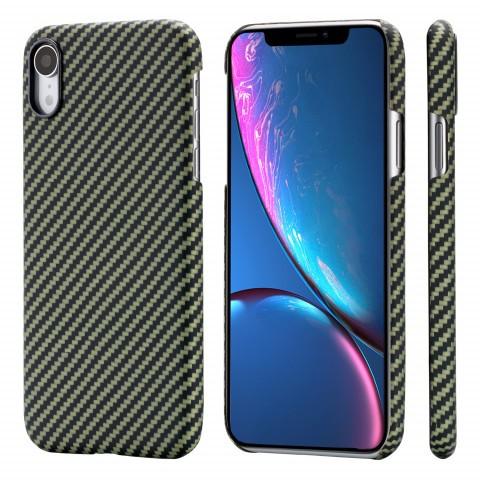 Чехол Pitaka MagEZ Case для iPhone XR Черно-Зеленый в полоску