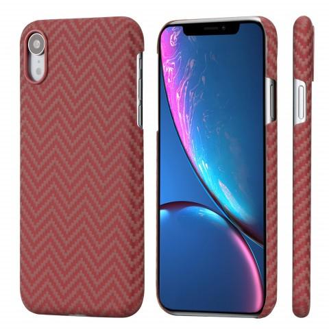 Чехол Pitaka MagEZ Case для iPhone XR Красно-Оранжевый в полоску