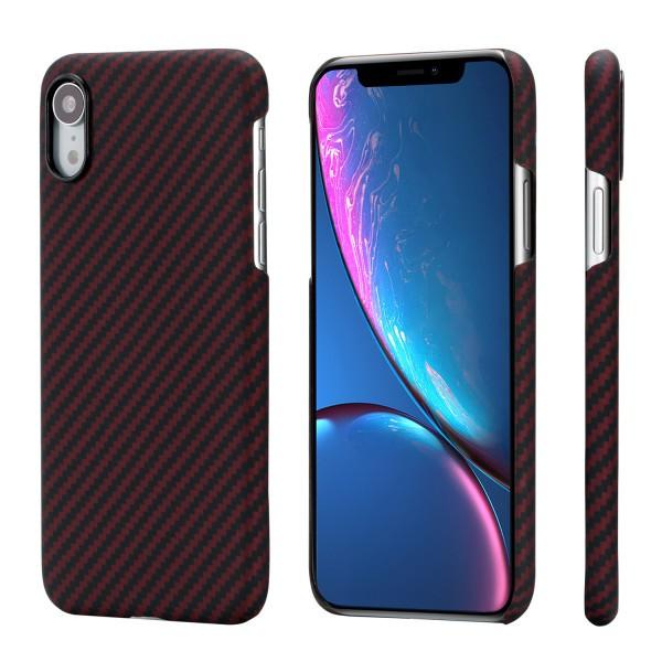Чехол Pitaka MagEZ Case для iPhone XR Черно-Красный в полоску