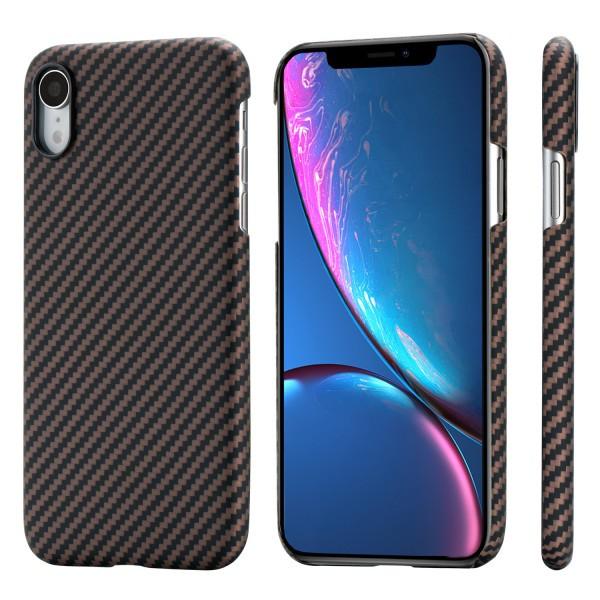 Чехол Pitaka MagEZ Case для iPhone XR Черно-Коричневый в полоску