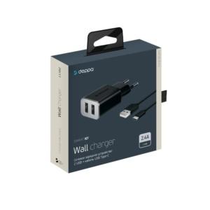 11382 2.png 300x300 - Deppa CЗУ 2 USB 2.4А, дата-кабель Type-C
