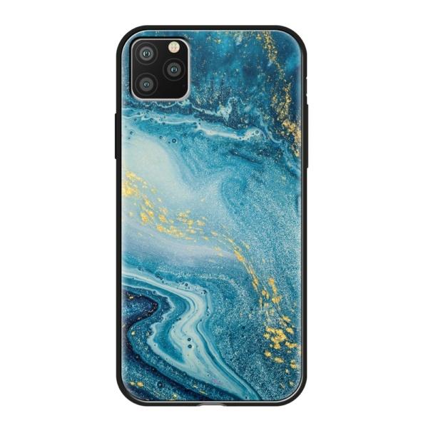 Чехол Glass Case для Apple iPhone 11 Pro Max Голубой