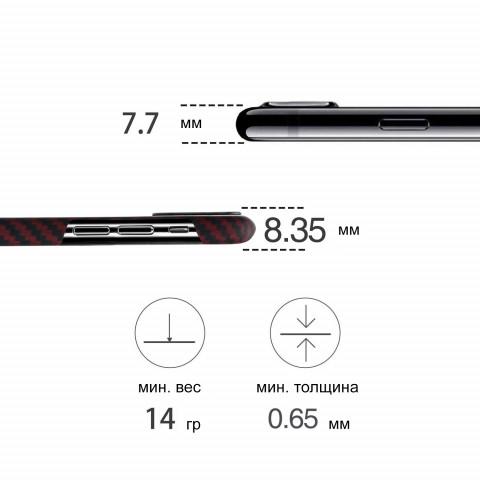 Чехол Pitaka MagEZ Case для iPhone XS Max Красный в полоску