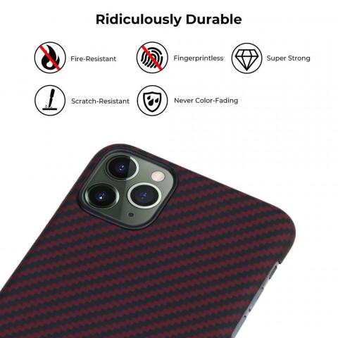 Кевларовый чехол Pitaka для iPhone 11 Pro Max Черно-Красный