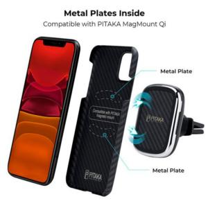 Кевларовый чехол Pitaka для iPhone 11 Pro Черно-Красный