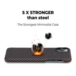 Кевларовый чехол Pitaka для iPhone 11 Pro Черно-Коричневый