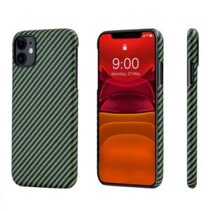 Кевларовый чехол Pitaka для iPhone 11 Черно-Зеленый