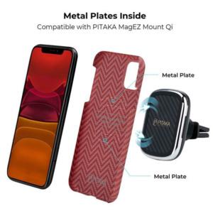 Кевларовый чехол Pitaka для iPhone 11 Красно-Оранжевый