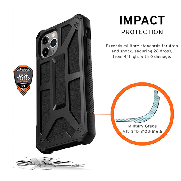 Чехол UAG MONARCH Series для iPhone 11 Pro Max черный (Black)