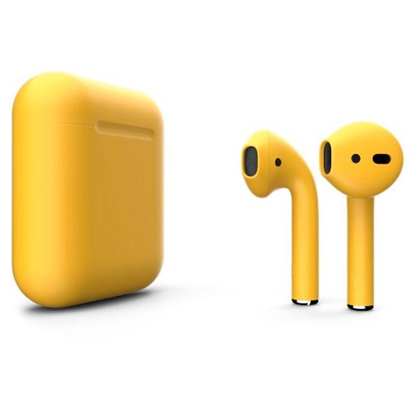 Беспроводные наушники Apple AirPods 2 Custom Edition тёмно-жёлтые матовые