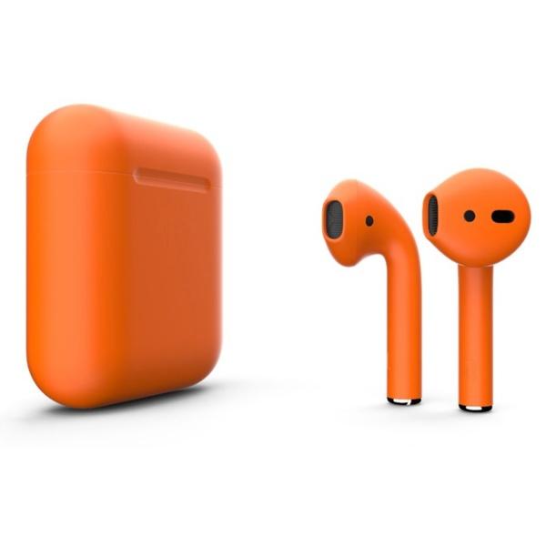 Беспроводные наушники Apple AirPods 2 Custom Edition оранжевые матовые