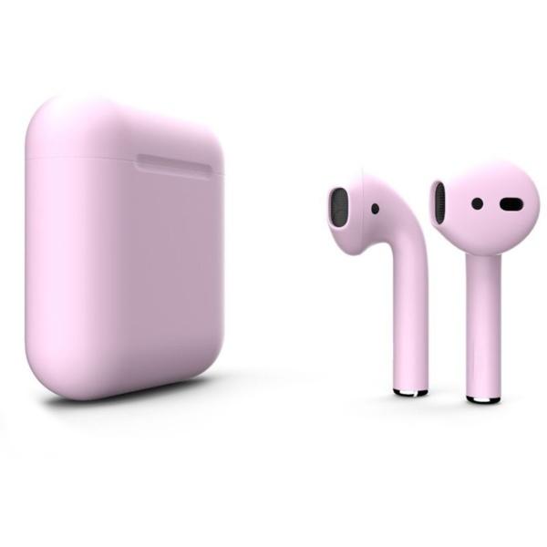 Беспроводные наушники Apple AirPods 2 Custom Edition нежно-розовые матовые