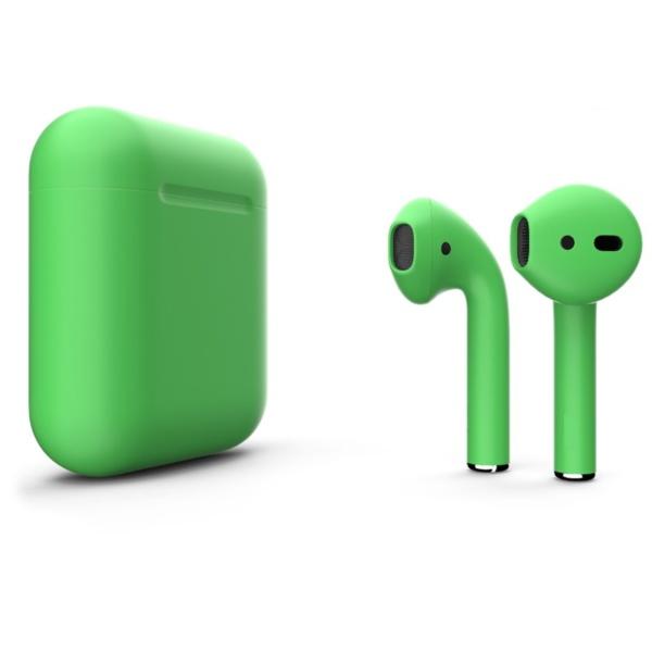 Беспроводные наушники Apple AirPods 2 Custom Edition кислотно-зеленые матовые