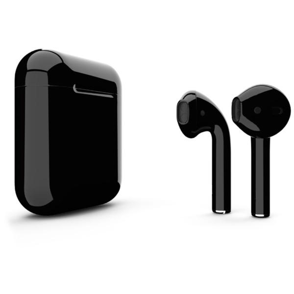 Беспроводные наушники Apple AirPods 2 Custom Edition чёрные глянцевые