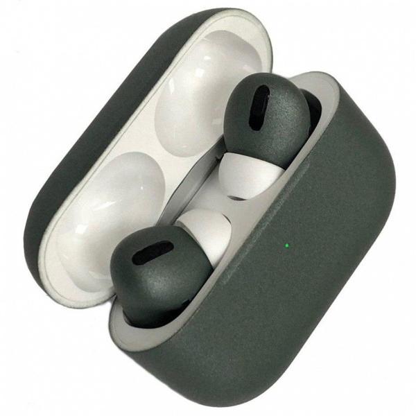 Беспроводные наушники Apple AirPods Pro Custom Edition зелёные матовые