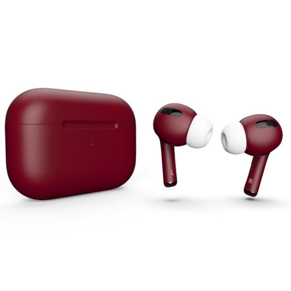 Беспроводные наушники Apple AirPods Pro Custom Edition бордовые матовые