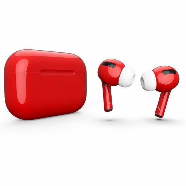 Беспроводные наушники Apple AirPods Pro Custom Edition красные глянцевые