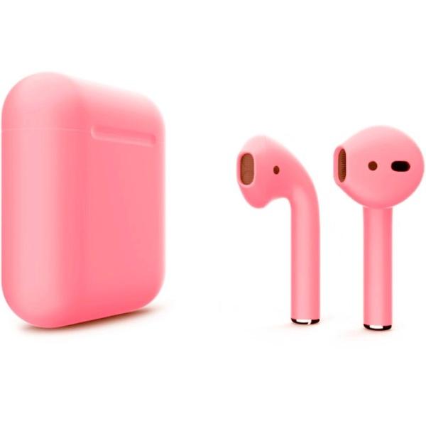 Беспроводные наушники Apple AirPods 2 Custom Edition светло-розовые матовые